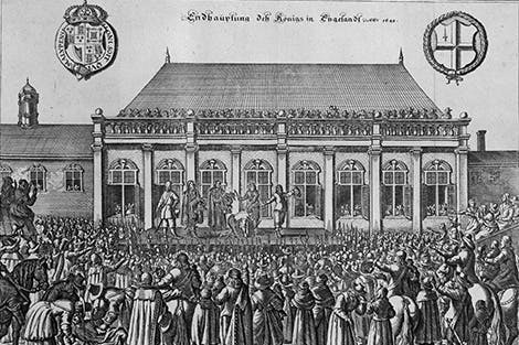 Depiction of the execution of King Charles I in 1649.