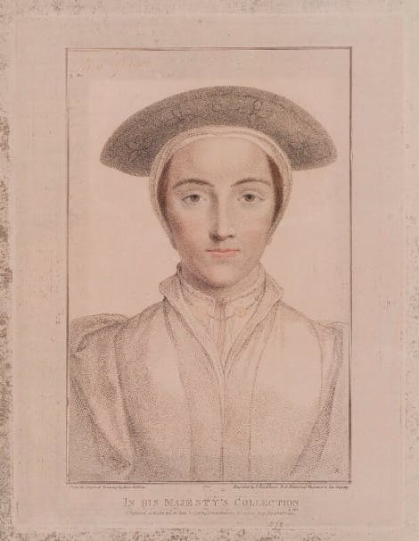A stipple engraving called Anne of Cleves by Francesco Bartolozzi
