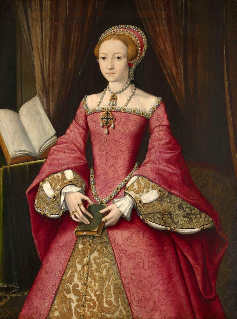 Portrait of Elizabeth I when she was a princess.
