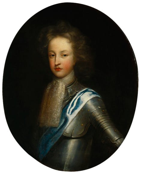 A portrait of William, Duke of Gloucester, dressed in armour, attributed to William Wolfgang Claret. He was the son of Queen Anne.