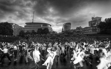 East Wall was a dance and music performance at the Tower of London in summer 2018. Created in partnership with Hofesh Shechter, East London Dance, London International Festival of Theatre (LIFT) and Historic Royal Palaces