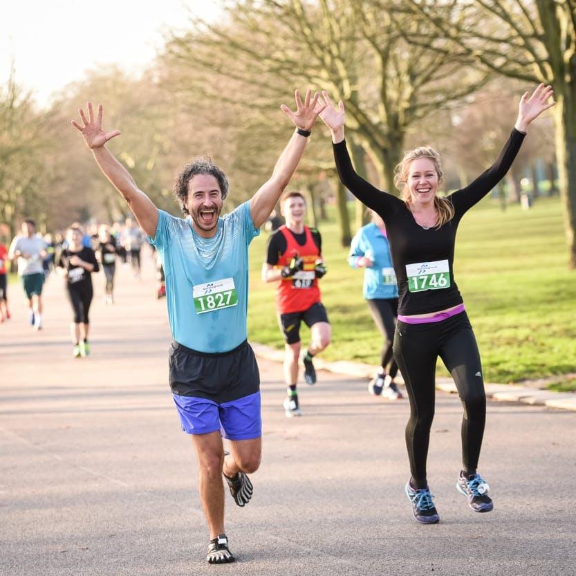 Runners at the Hillsborough Castle and Gardens running festival