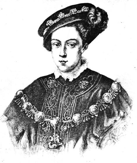 Illustration of King Edward VI