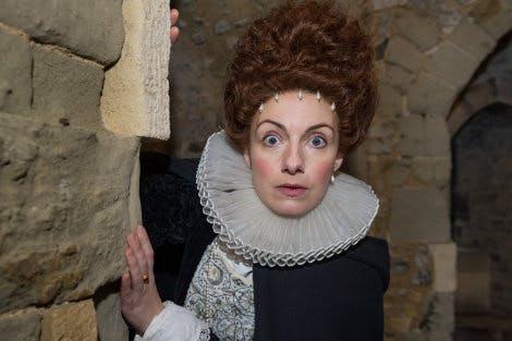 Actor dressed as Lady Arbella Seymour for Prisoner's Perilous Plot Digital Mission