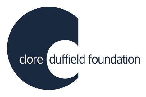 Clore Duffield Foundation logo on a white background
