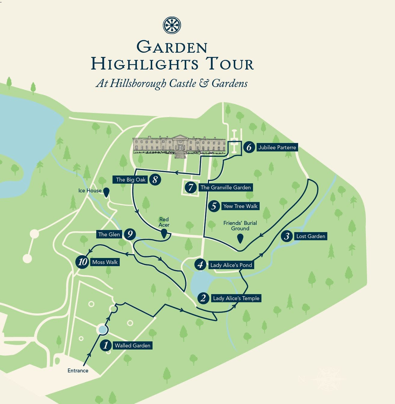 Hillsborough Castle Gardens map