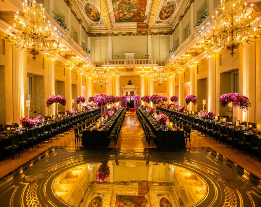 Banqueting House set up with tables for an event. Image: john@johncainphotography.com