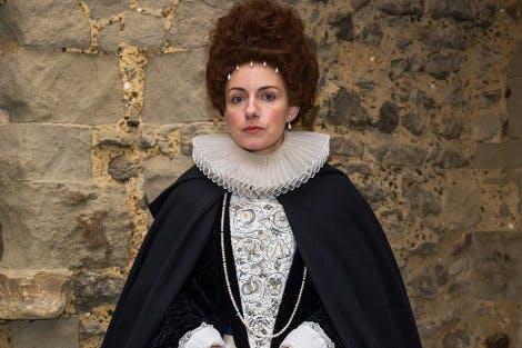 Actor in costume as Lady Arbella Seymour for The Prisoner's Perilous Plot Digital Mission