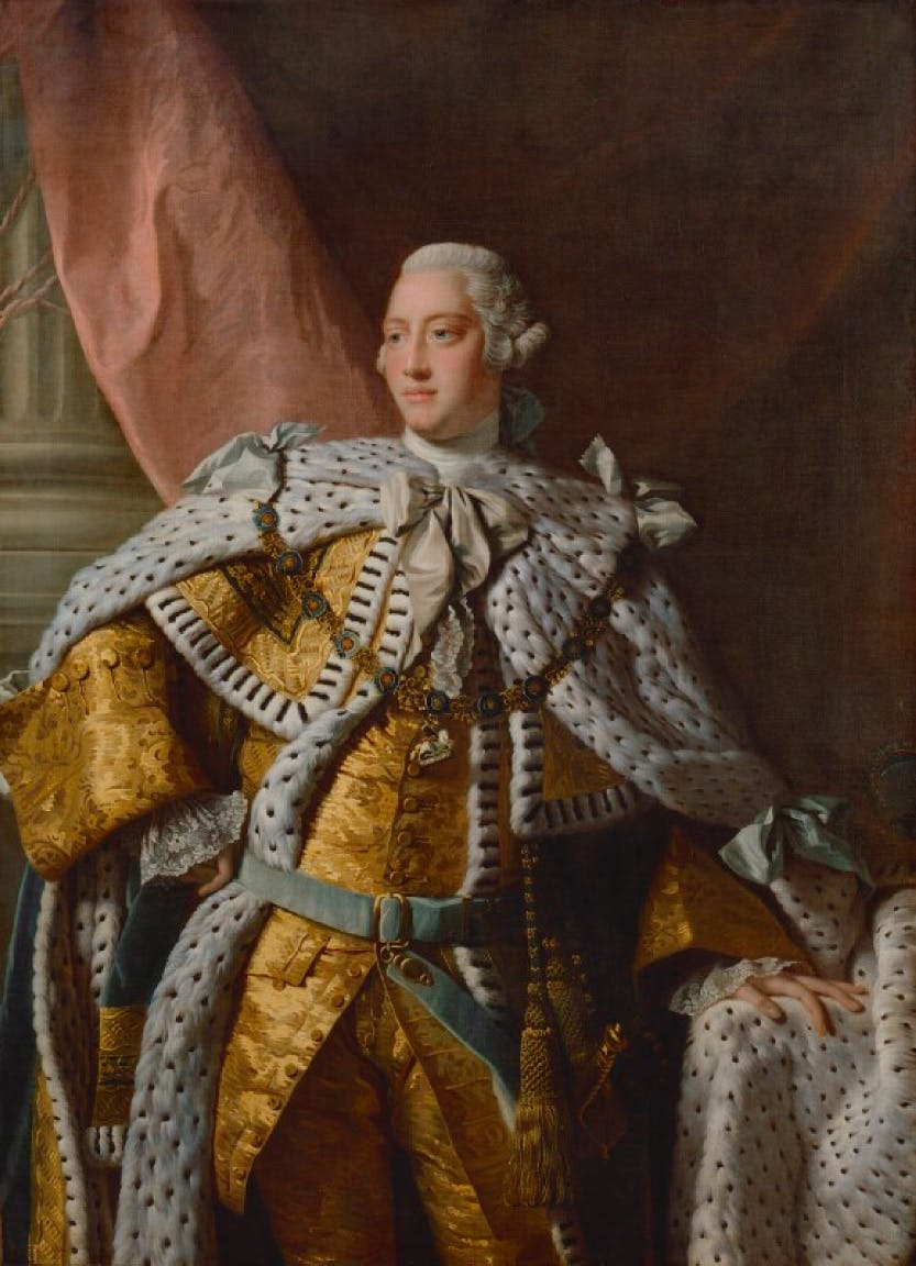 A portrait of King George III