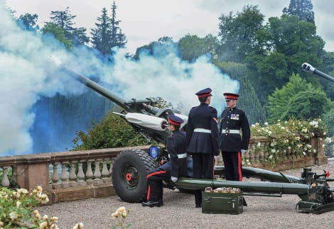 Photo of 21 Gun Salute taking place at Hillsborough Castle