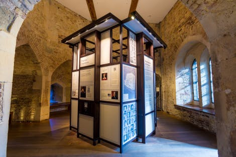 The Beauchamp Tower - Imprisonment at the Tower display and exhibition