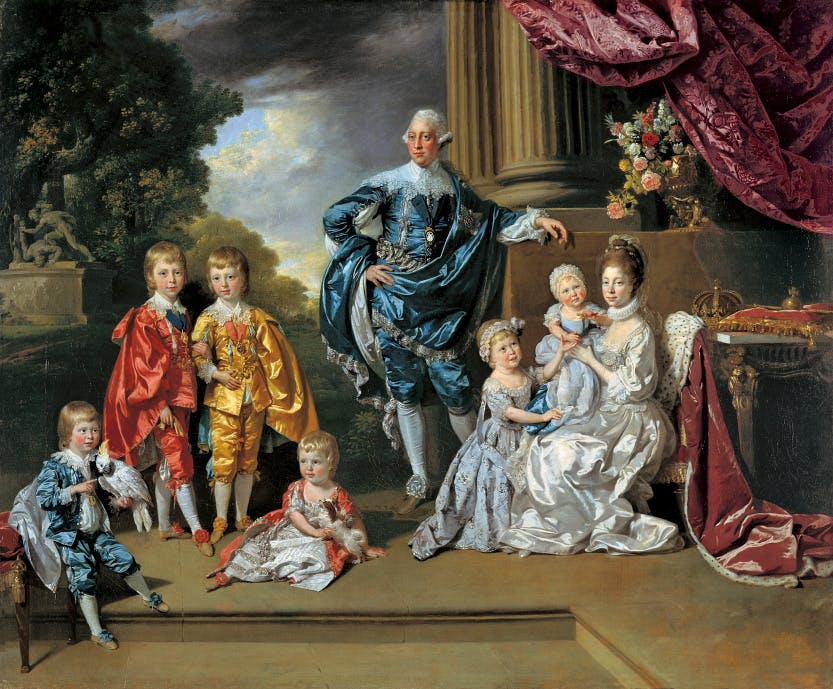 George III (1738-1820), Queen Charlotte (1744-1818) and their Six Eldest Children