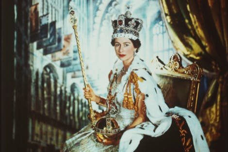 Queen Elizabeth II on Coronation Day