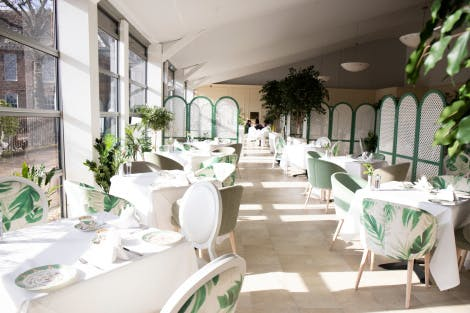 Kensington Palace Pavilion restaurant and café interior.