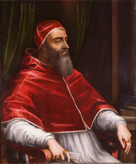 Pope Clement VII, about 1531, painted by Sebastiano del Piombo.