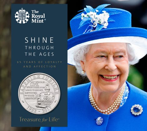 The Royal Mint's 2017 British coin set, marks the year's memorable events and anniversaries. Commemorative proof.