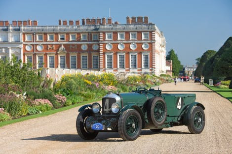 Cars in the gardens of Hampton Court Palace as part of Concours of Elegance 2017.