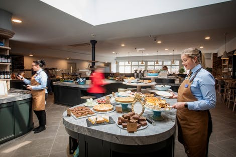 A view of the café in the Lower Visitor Centre at Hillsborough Castle and Gardens
