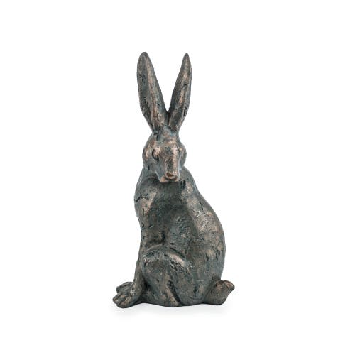 Sitting hare garden ornament