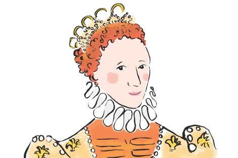 Illustration of Queen Elizabeth I, head and shoulders