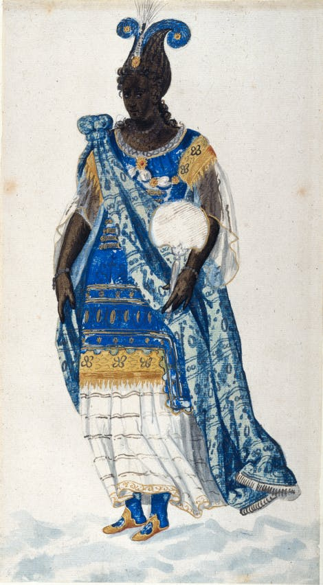 Inigo Jones masque costume design, 'A Daughter of Niger'