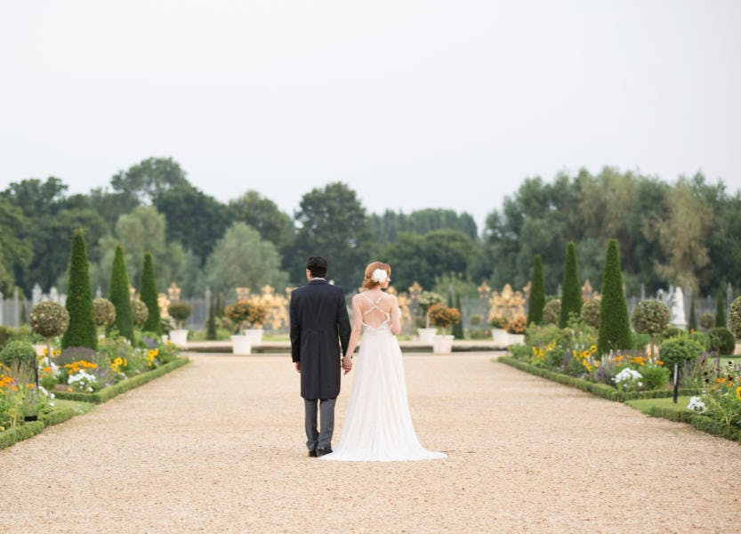 Wedding photography in the Privy Garden