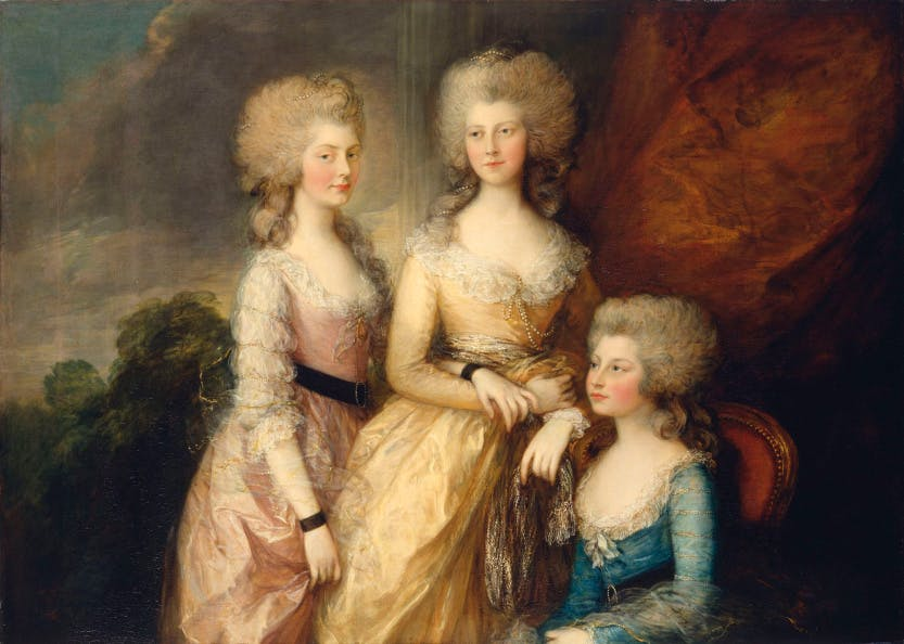 Portrait of the Three Eldest Princesses: Charlotte, Princess Royal (1766-1828), Augusta (1768-1840) and Elizabeth (1770-1840)