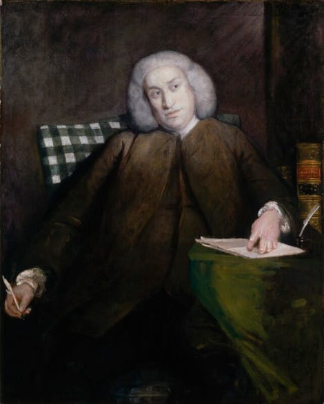 Portrait of Samuel Johnson by Sir Joshua Reynolds.