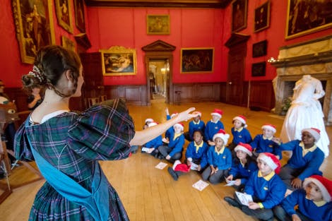 Primary school students taking part in school session at Kensington Palace