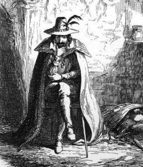 George Cruikshank's illustration of Guy Fawkes