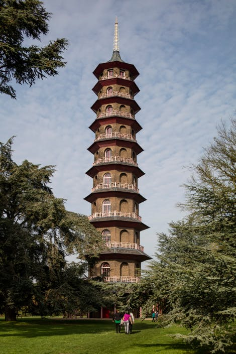 Long shot of The Great Pagoda before restoration 2015
