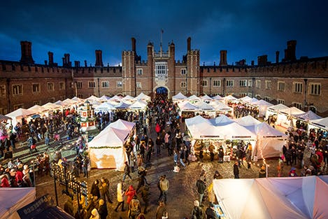 View of stalls at Festive Fayre