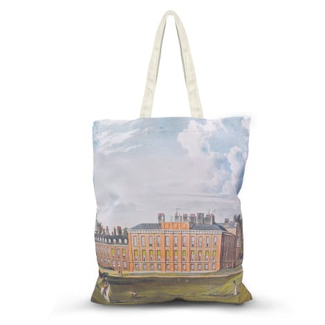 This stunning tote bag features a 18th century view of Kensington Palace, showing the work of Christopher Wren.