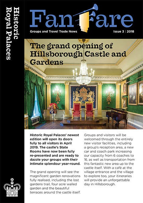 Front cover of the Historic Royal Palaces Fanfare newsletter