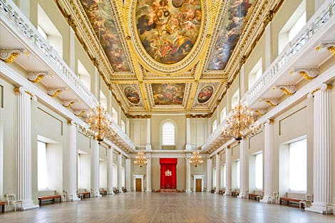 View of the Main Hall at the Banqueting House