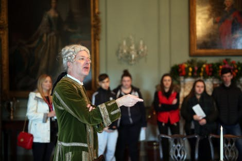 Visitors and live interpreters during the Hillsborough Castle Christmas celebrations in 2017