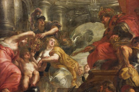 The Union of the Crowns -The Banqueting House ceiling by Peter Paul Rubens