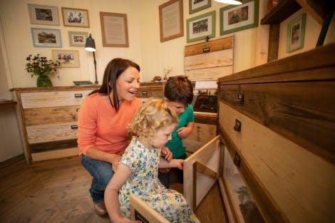 Children explore the Summer House at Hillsborough Castle and Gardens