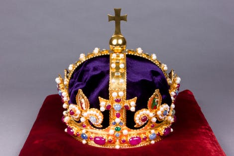 A view of King Henry VIII's re-created Crown of State