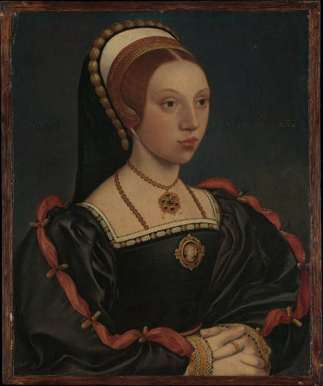 Portrait of a unknown Tudor lady.