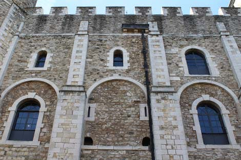 Detail of windows on the White Tower viewed from the North