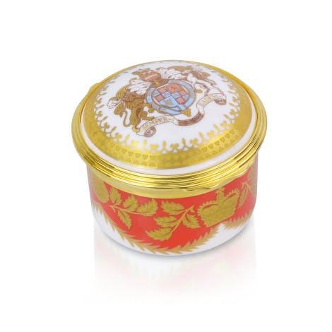 Palace Crest Fine Bone China Pill Box