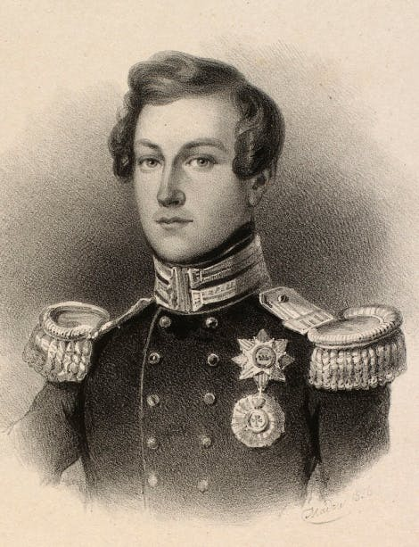 Drawing of a young Prince Albert