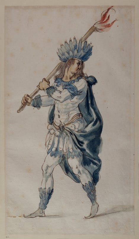 Inigo Jones design of 'A Torch Bearer, Indian'.