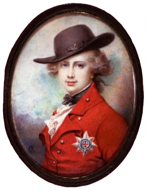 Portrait of King George IV before he was king