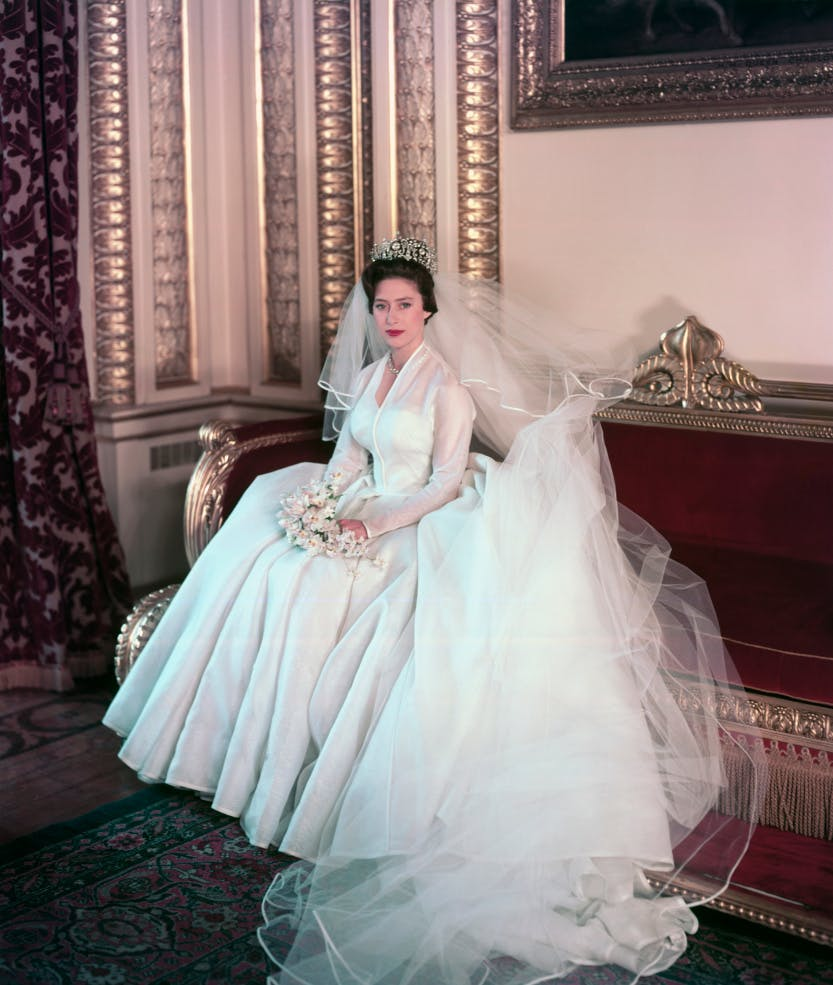 Image of Princess Margaret on her wedding day.
