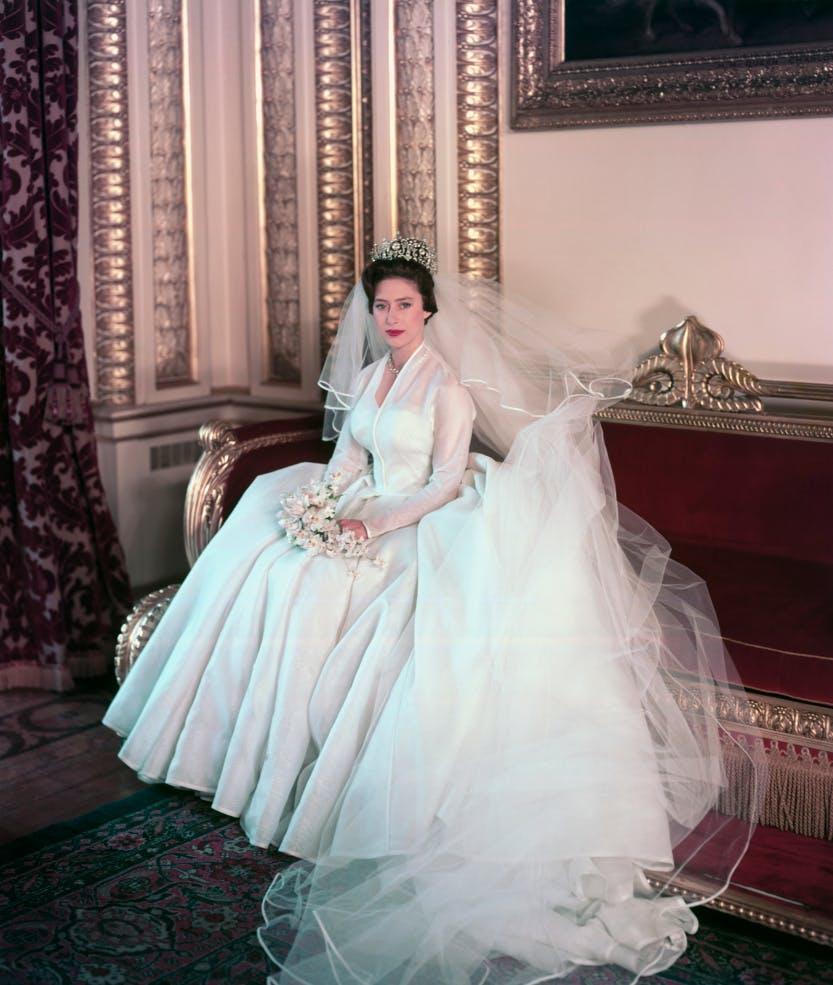 Image of Princess Margaret on her wedding day.