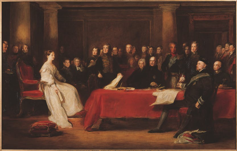The First Council of Queen Victoria by Sir David Wilkie