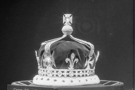 Crown on a black background