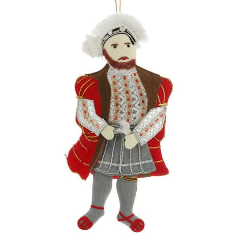 Henry VIII luxury embroidered tree decoration